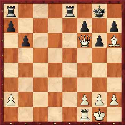 queen and bishop fianchetto checkmate