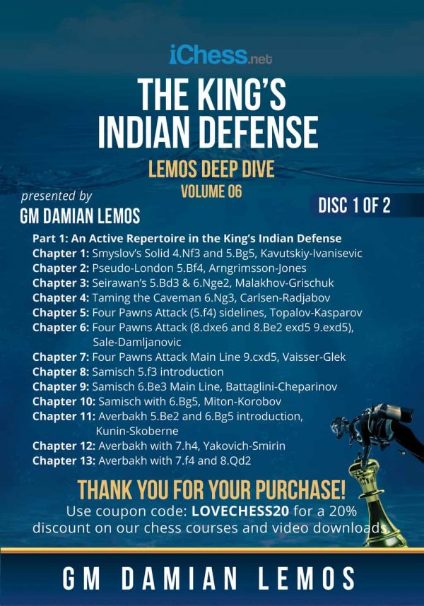 The King's Indian Defense (Lemos Deep Dive)