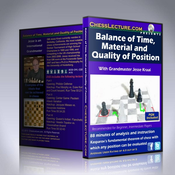 Balance of Time, Material and Quality of Position – GM Jesse Kraai