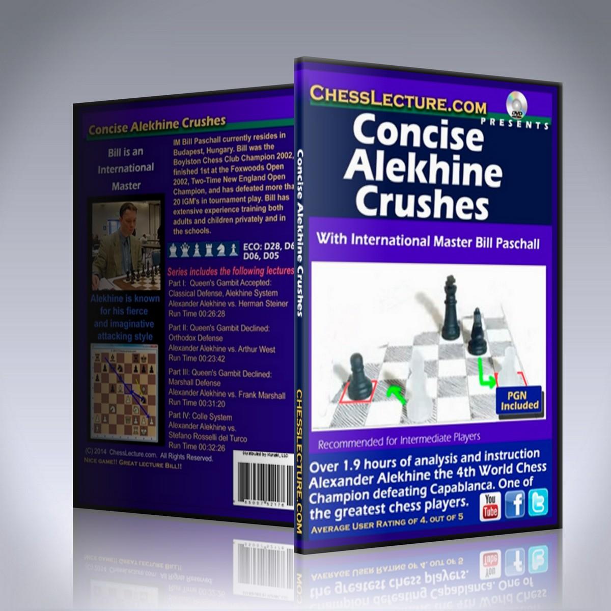 Concise Alekhine Crushes – IM Bill Paschall