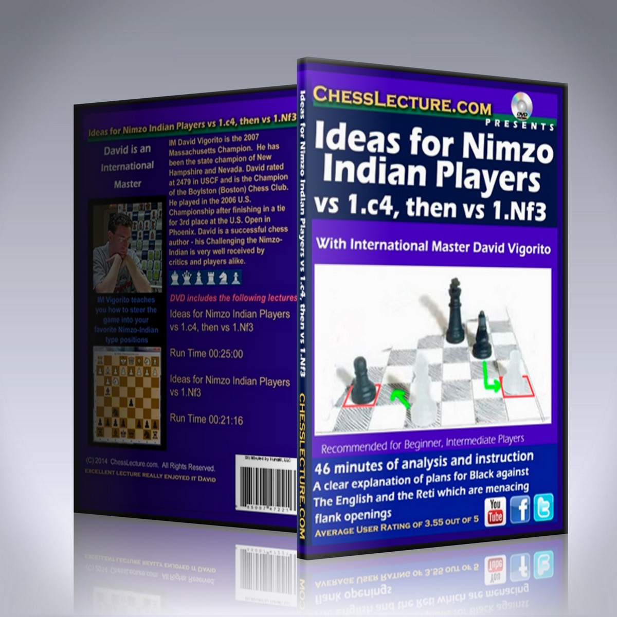 Ideas for Nimzo Indian Players vs 1.c4, then vs 1.Nf3 – IM David Vigorito