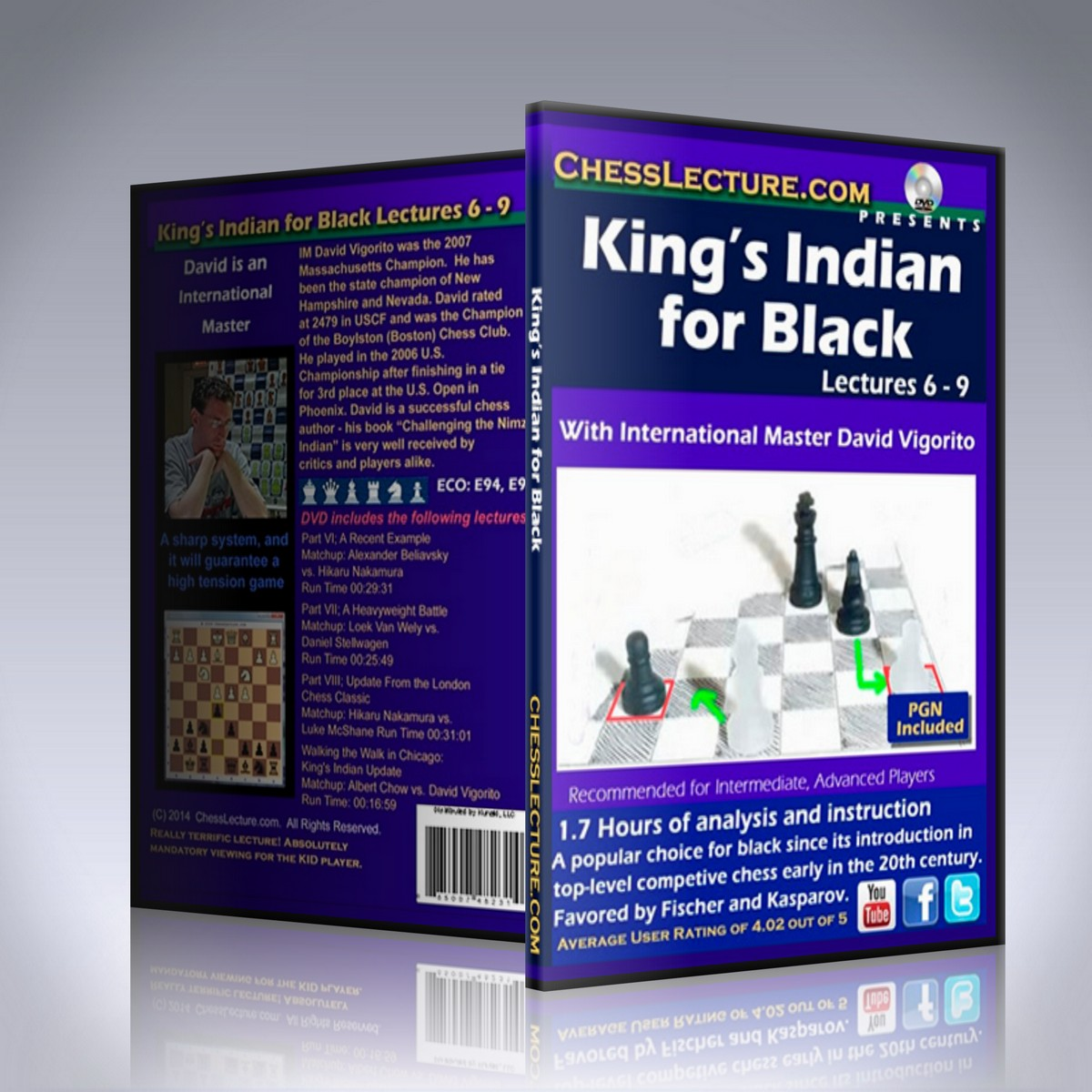 King's Indian for Black lectures 6-9 – IM David Vigorito