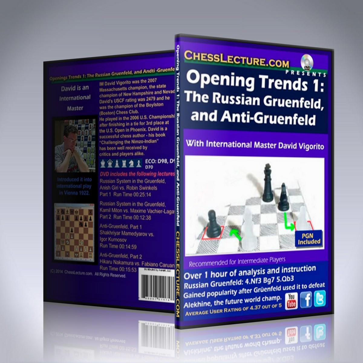 Opening Trends: The Russian Gruenfeld and Anti-Gruenfeld – IM David Vigorito