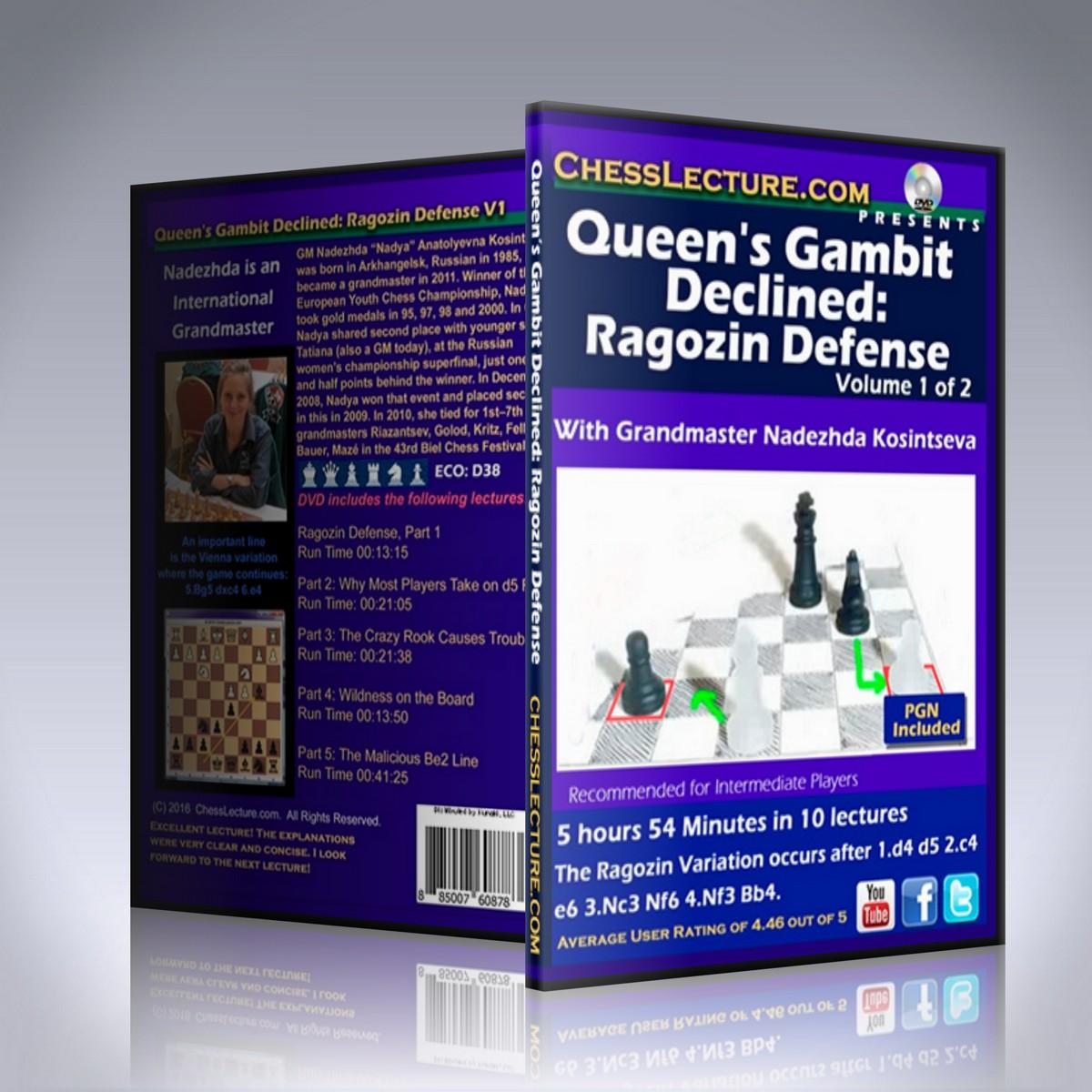 Queen's Gambit Declined: Ragozin Defense 2 DVD set – GM Nadezhda Kosintseva