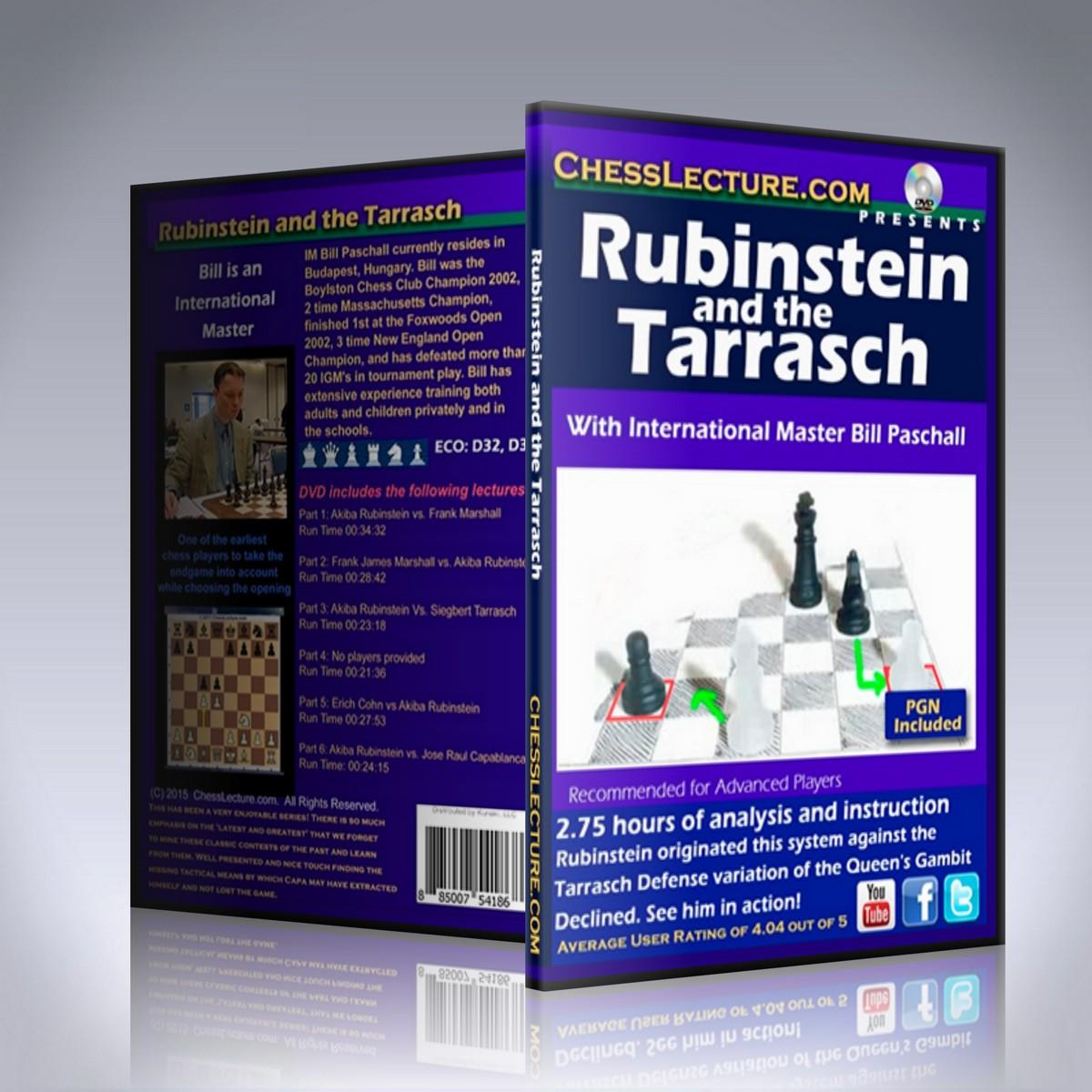 Rubinstein and the Tarrasch – IM Bill Paschall