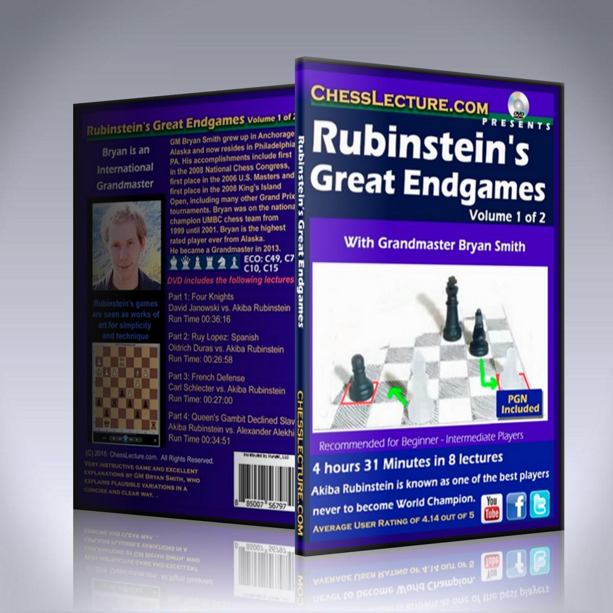 Rubinstein's Great Endgames 2 DVD set – GM Bryan Smith