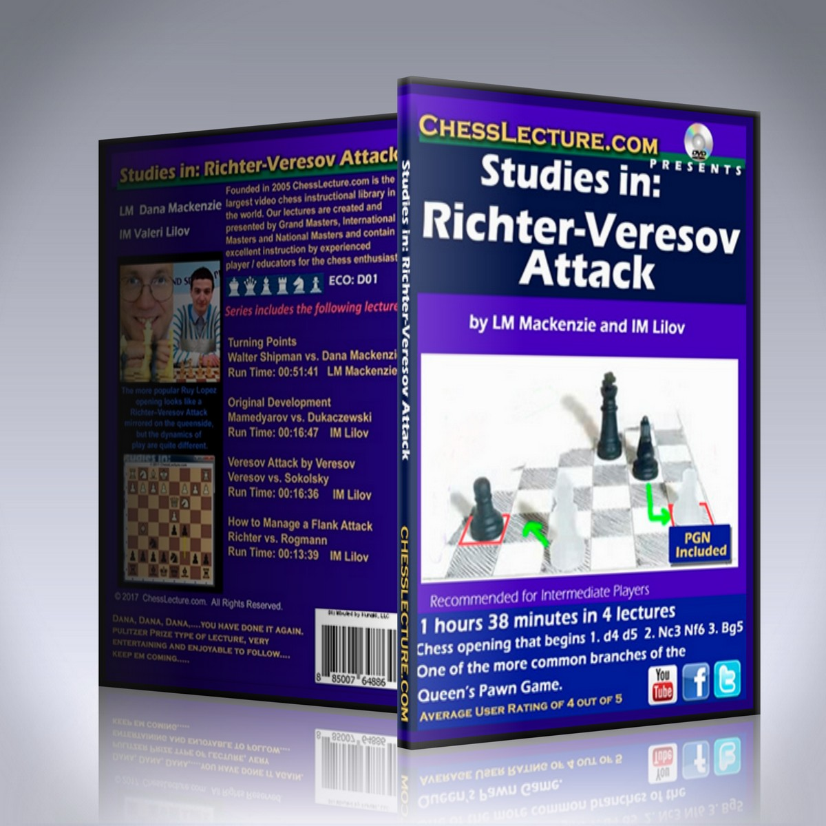 Studies in: Richter-Veresov Attack – LM Dana Mackenzie and IM Valeri Lilov