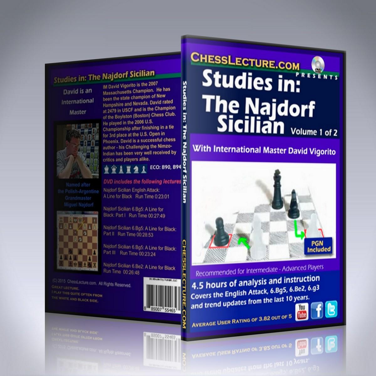 Studies in: The Najdorf Sicilian 2 DVD set – IM David Vigorito