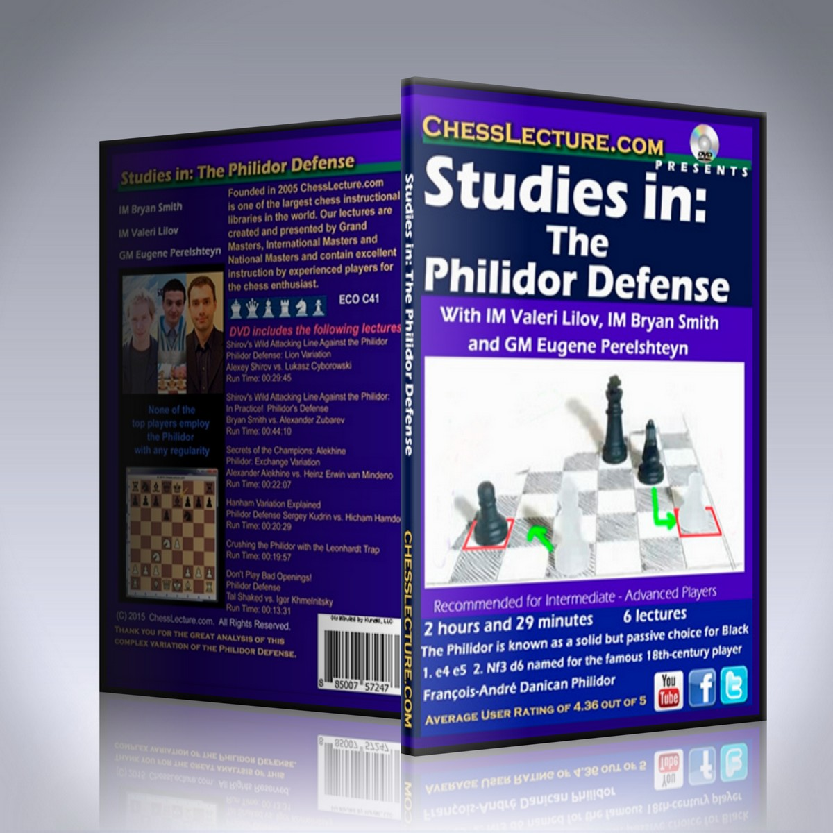 Studies in: The Philidor Defense – IM Valeri Lilov, GM Bryan Smith and GM Eugene Perelshteyn