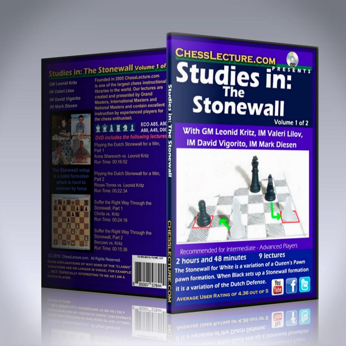 Studies in: The Stonewall 2 DVD set – GM Leonid Kritz, IM Valeri Lilov, IM David Vigorito and IM Mark Diesen