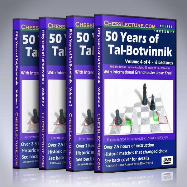 50 Years of Tal-Botvinnik (4 DVDs) – GM Jesse Kraai