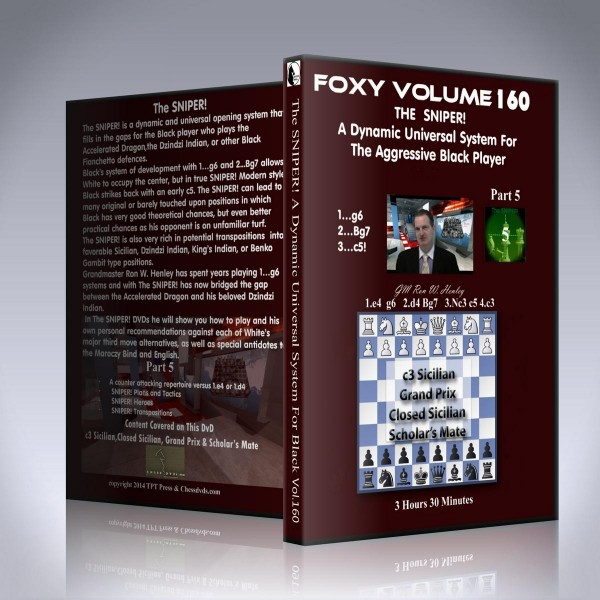 The SNIPER! – Vol 5 – Dynamic Universal System for the Aggressive Black Player – GM Ron Henley
