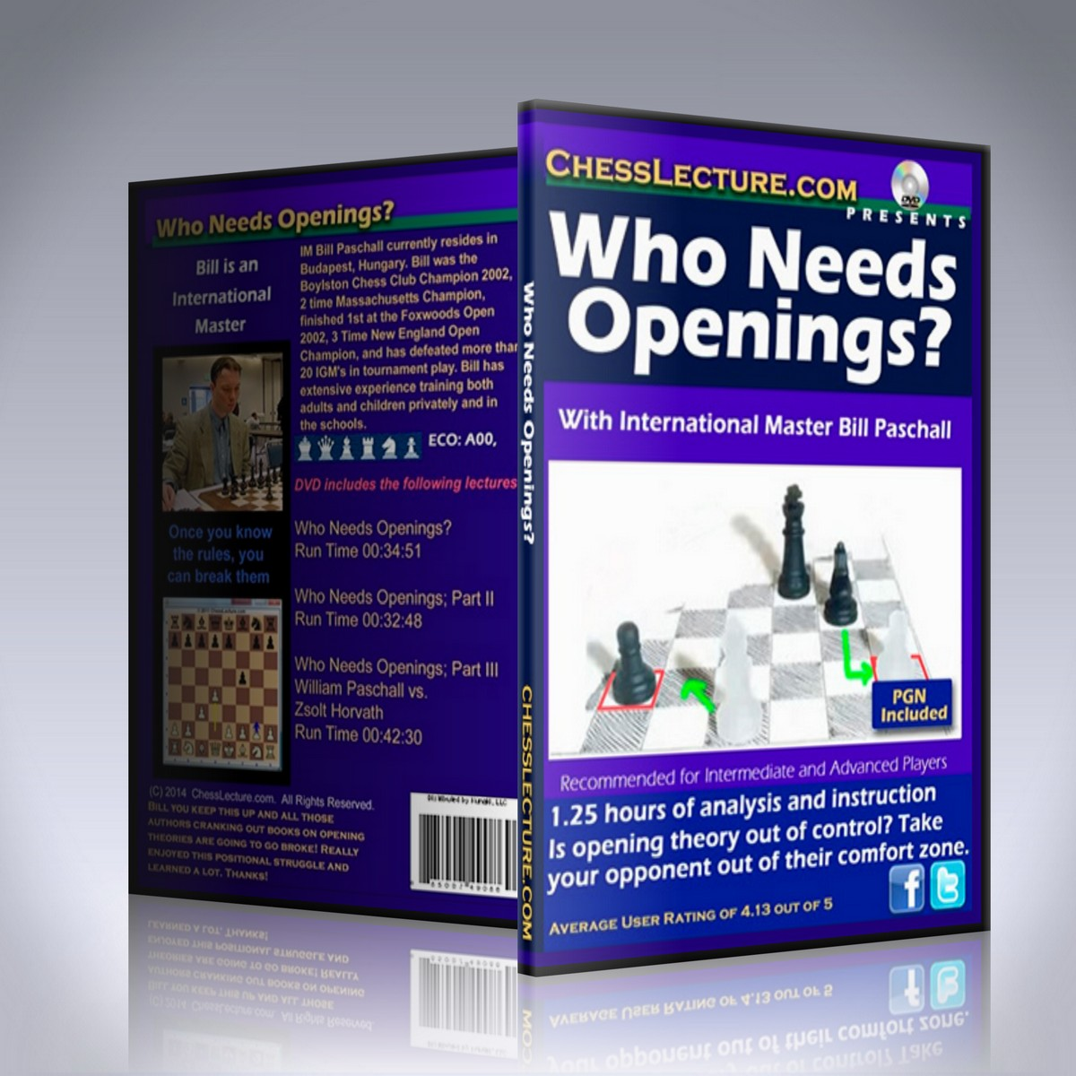 Who Needs Openings? – IM Bill Paschall