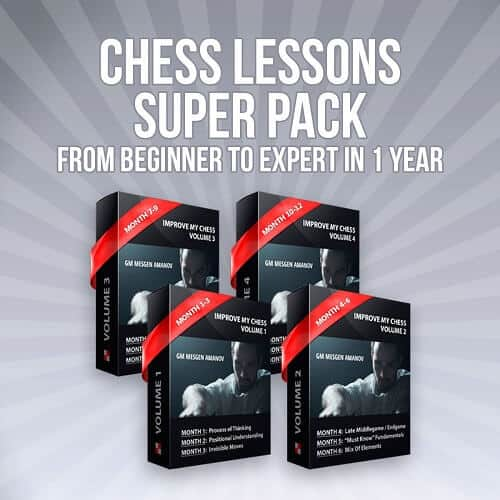 Chess Lessons Super Pack: From Chess Beginner to Expert in 1 Year