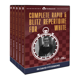 Complete Rapid & Blitz Repertoire for White with IM David Fitzsimons