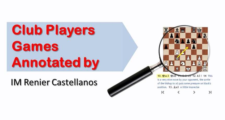 3 Club Players Games Annotated by IM Renier Castellanos