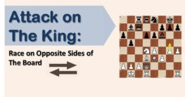 Attack on  the King: Race on Opposite Sides of The Board