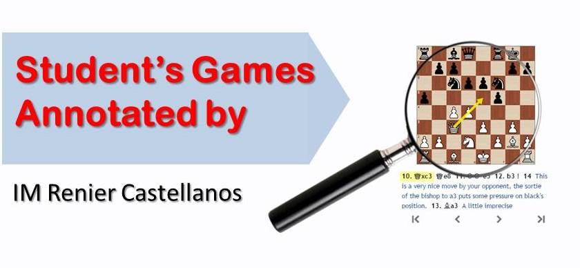 3 Student's Games Annotated by IM Renier Castellanos