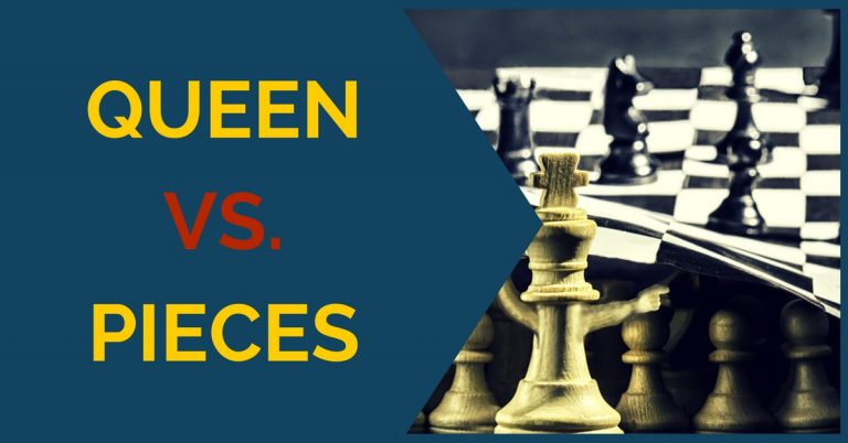 queen vs pieces