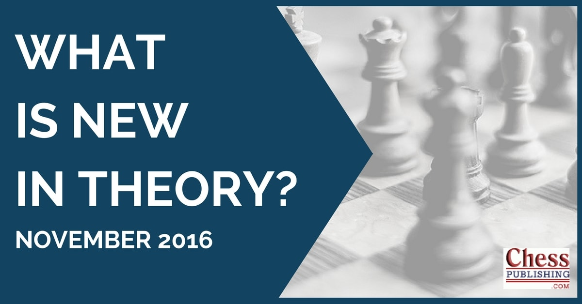 What is New in Theory? (November 2016)