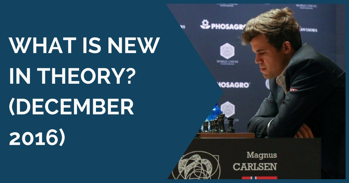 What is New in Theory? (December 2016)