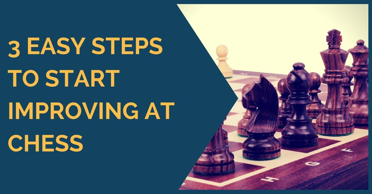 3 Easy Steps to Start Improving at Chess
