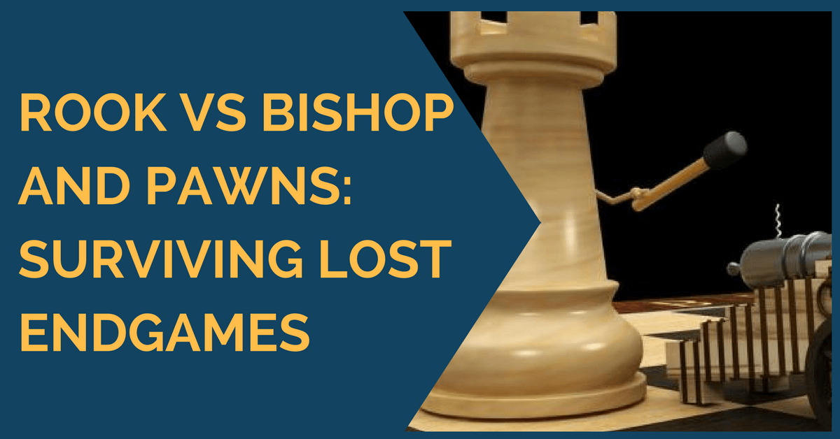 Rook vs Bishop and Pawns: Surviving Lost Endgames