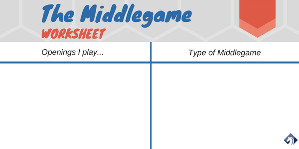 chess middlegame worksheet