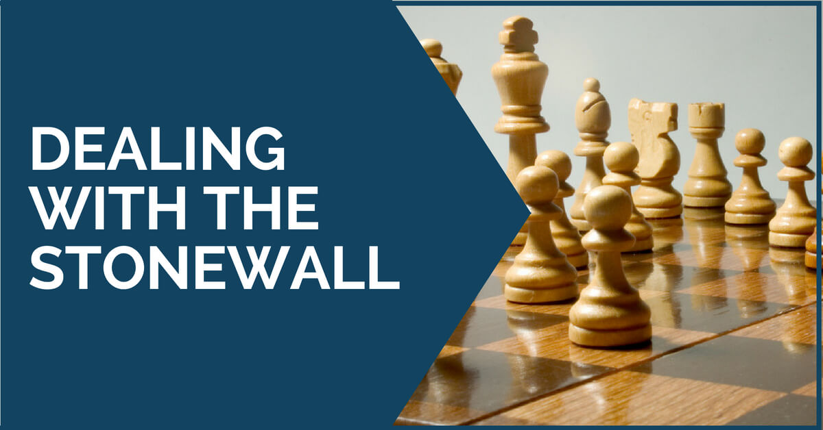 dealing with stonewall