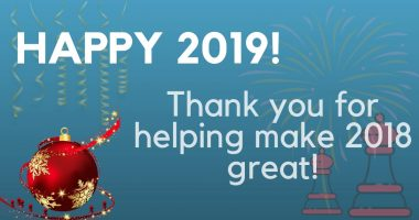 Thank you for helping make 2018 great!