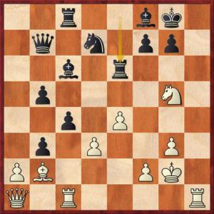 Solution: 1. Rh8 – Kxh8 2. Rh1 – Kg8 3. Rh8 – Kxh8 4. Qh1 – Kg8 5. Qh7#