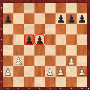 chess strategy - hanging pawns