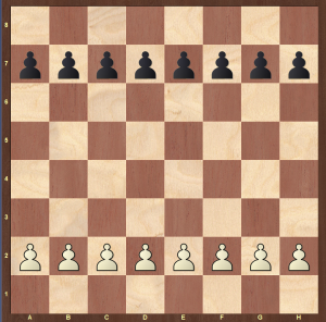 rules of chess - setting up pawns