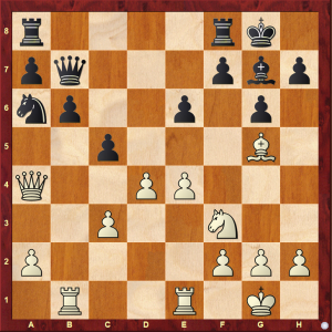 Passed Pawns in Middlegames: Kasparov-Pribyl diagram 1