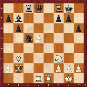 Passed Pawns in Middlegames: Caglar-Dragnev diagram 1